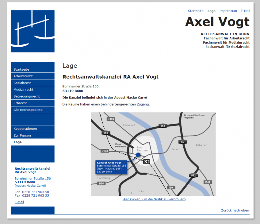 Anwaltskanzlei Axel Vogt ist umgezogen