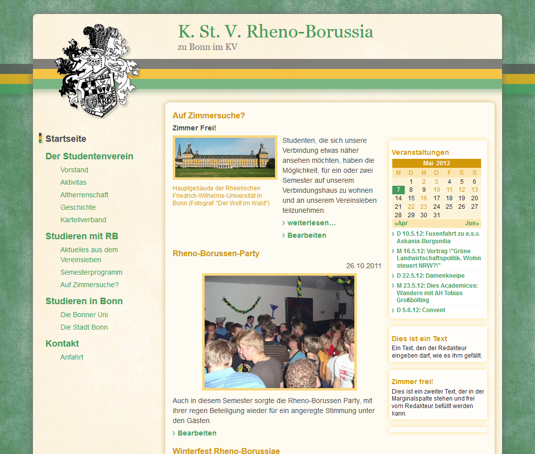 Die neue Homepage der Rheno-Borussen in Bonn