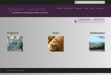 Screenshot einer Website (violett und grau)