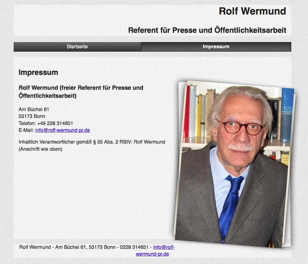 Rolf Wermund - PR in Bonn