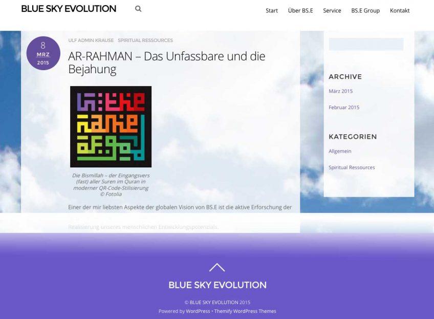 Webseite für Ulf Krause