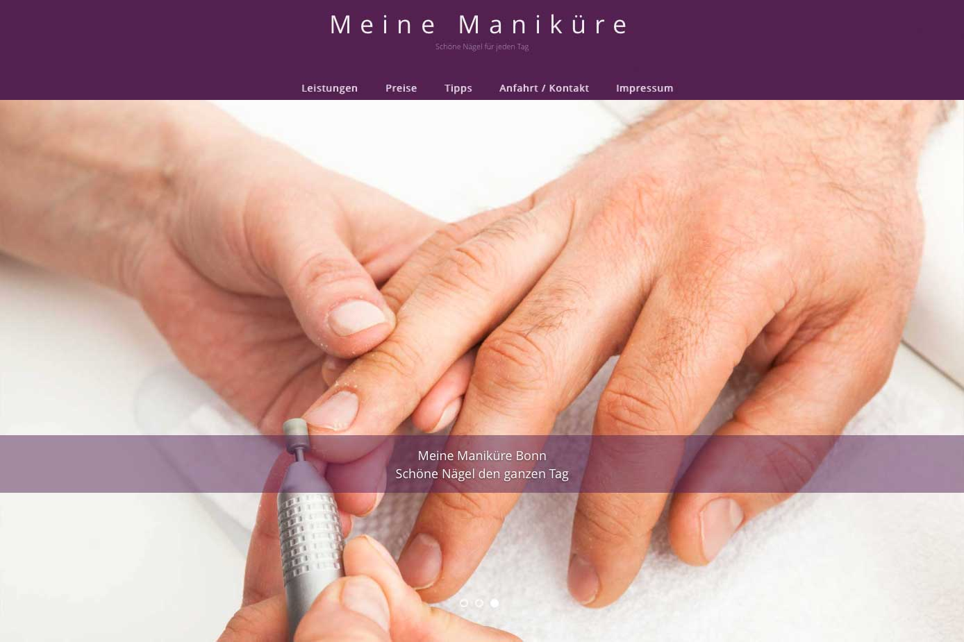Die Nägel einer Männerhand werden von einer Frau mit einem speziellen Schleifgerät gekürzt