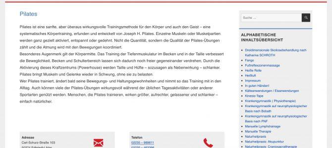 www.physiotherapie-erftstadt.de online gegangen