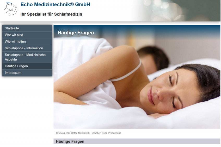 Responsive Website für  Echo Medizintechnik