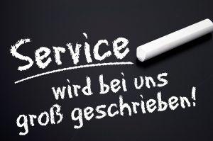 Service wird bei uns groß geschrieben