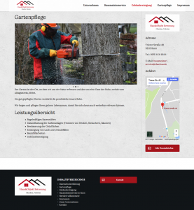Webseite des Hausmeisterservice Valerian Chachua