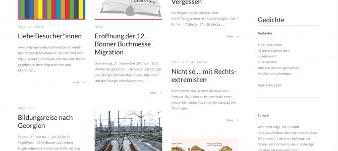 Neues Aussehen für migrapolis-deutschland.de