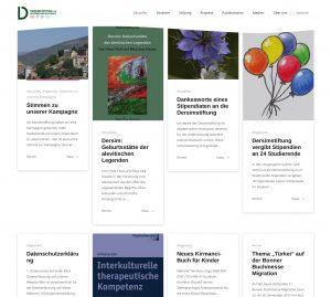 Screenshot von einigen Blogartikeln